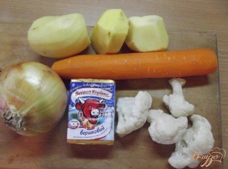 Фото приготовление рецепта: Сливочный суп с цветной капустой шаг №1