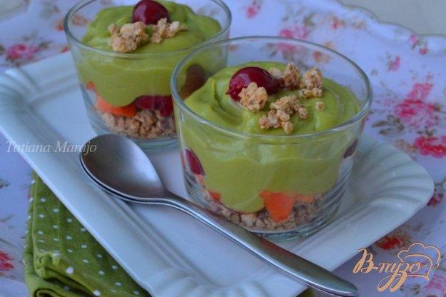 Рецепт Десерт с кремом из авокадо и лимонным курдом