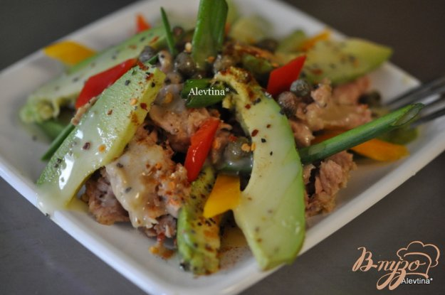 Рецепт Тунец с авокадо и каперсами