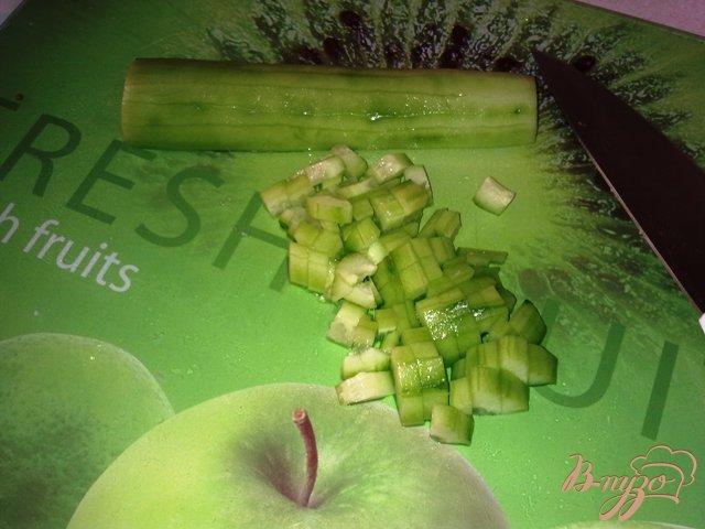 Фото приготовление рецепта: Мясной салат с хреном шаг №5
