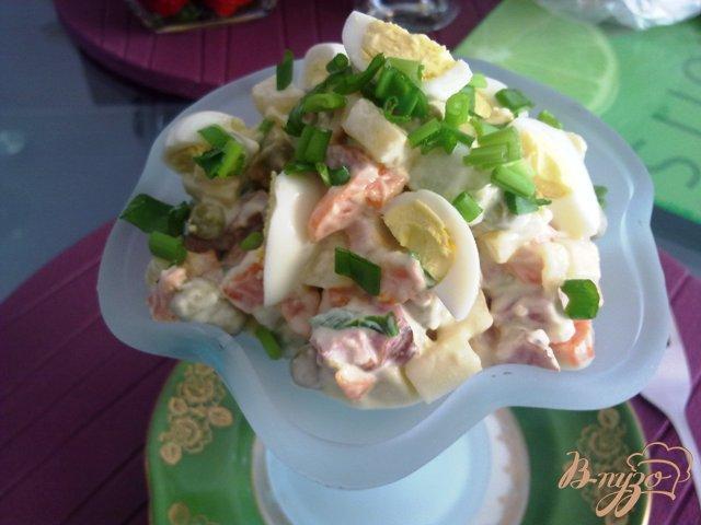Фото приготовление рецепта: Мясной салат с хреном шаг №11