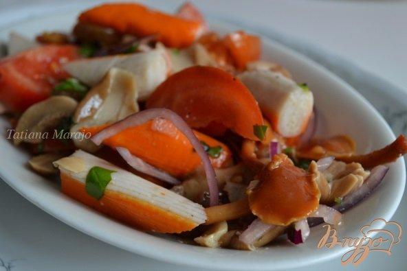 Рецепт Помидорный салат с крабовыми палочками