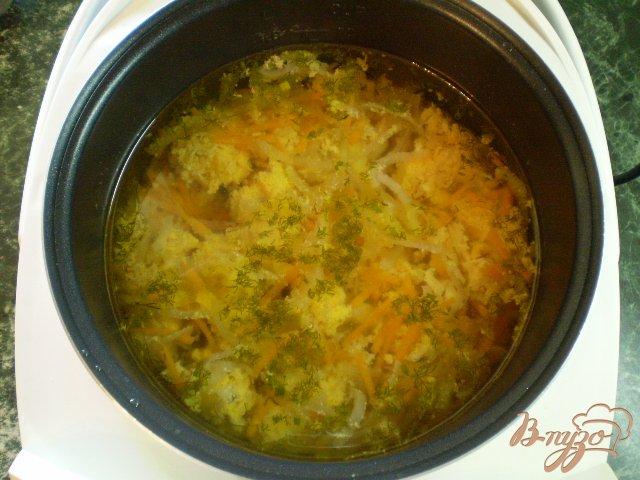 Фото приготовление рецепта: Суп с рыбной икрой шаг №6