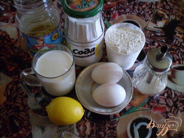 Фото приготовление рецепта: Оладьи молочные с лимоном шаг №1