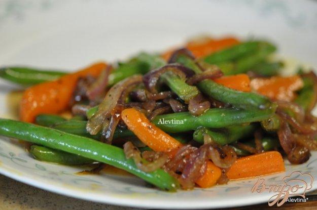 Рецепт Зеленая фасоль с карамелизированым луком