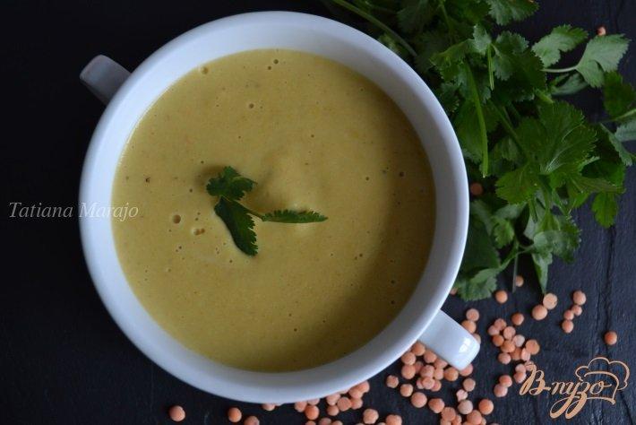 Фото приготовление рецепта: Чечевичный суп-пюре карри шаг №5