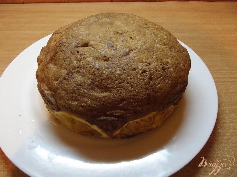 Фото приготовление рецепта: Апельсиновый пирог с кардамоном шаг №8