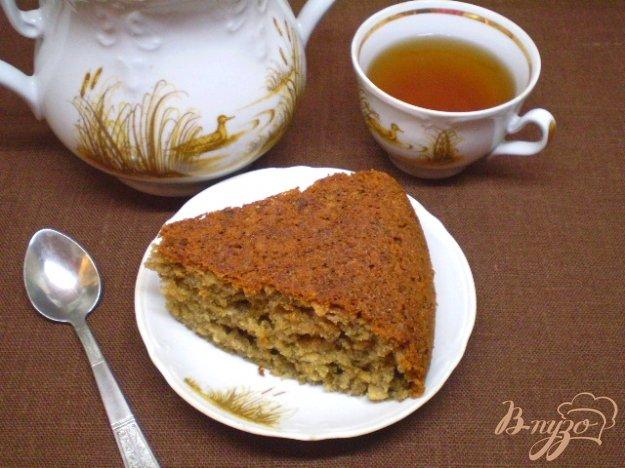 Рецепт Овсяный пирог со сливовым вареньем