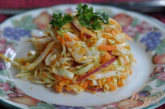 Рецепт Салат с капустой острый