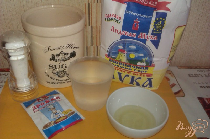 Фото приготовление рецепта: Хлеб на сухих дрожжах шаг №1