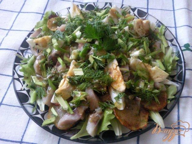 Рецепт Салат с сельдью и жаренным картофелем