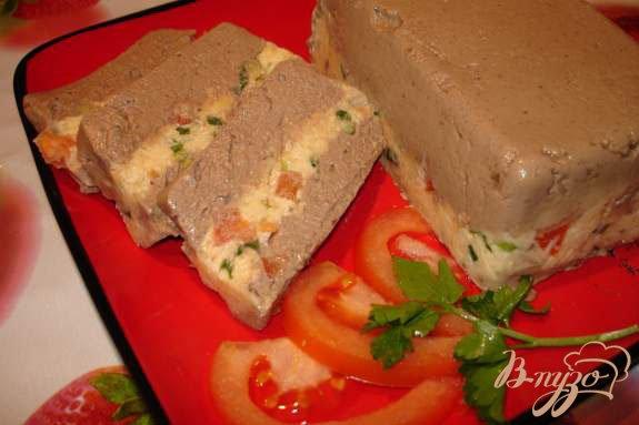 Рецепт Полосатый печеночный паштет из куриной (индющиной) печени с сыром