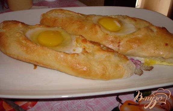 Фото приготовление рецепта: Аджарские хачапури (с яйцом и без него) шаг №3