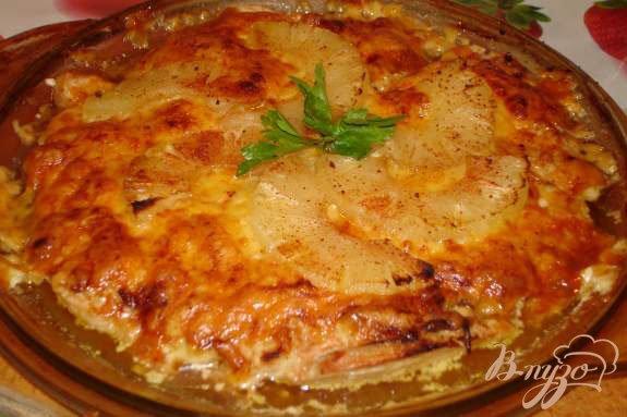 фото рецепта: Запеченое куриное филе с ананасом