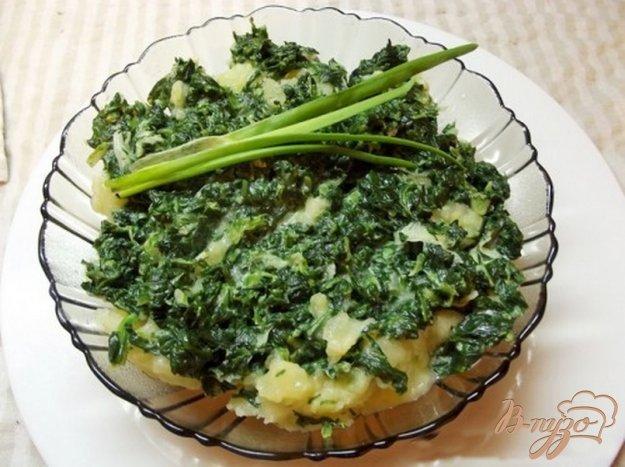 фото рецепта: Картофель с листовой зеленью
