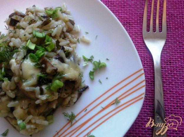 фото рецепта: Рис с грибами под сыром