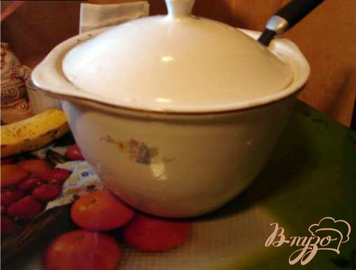 фото рецепта: Окрошка на кефире (сыворотке)