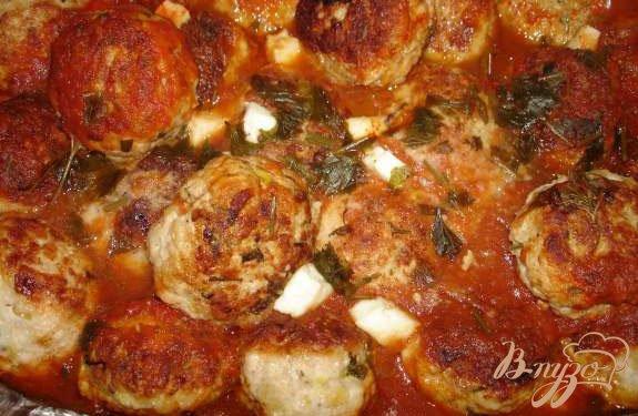 Рецепт Индюшиные (куриные) тефтельки с брынзой