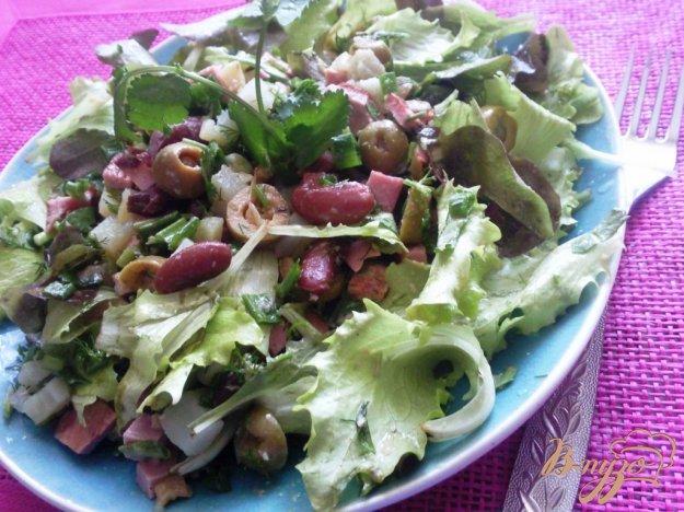 Рецепт Овощной салат с жаренной колбасой