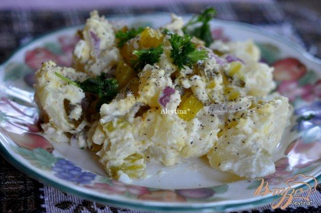 Рецепт Картофельный салат со сладкими огурчиками