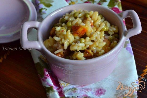 Рецепт Ризотто с зеленым горошком и апельсином
