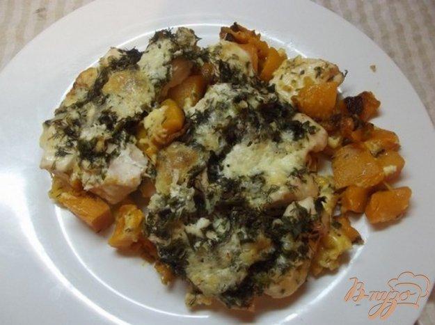 Рецепт Курица запеченная с тыквой