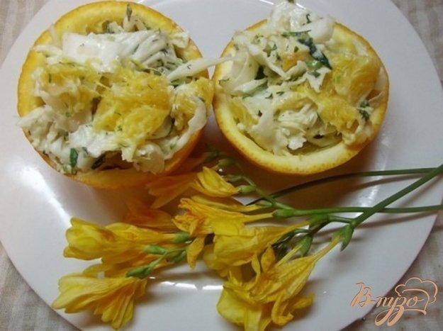 Рецепт Овощной салат с апельсиновым соусом