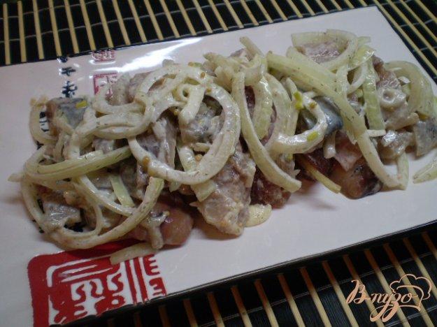 Рецепт Сельдь со сметаной, укропом и горчицей
