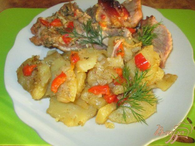 Рецепт Запеченная голень индейки с картофелем