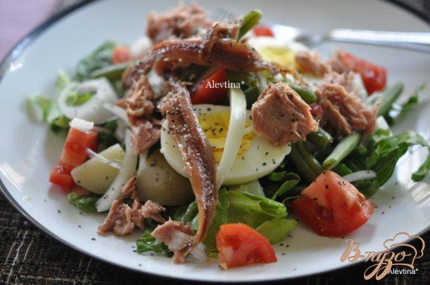 Рецепт Здоровый салат Нисуаз-Niçoise