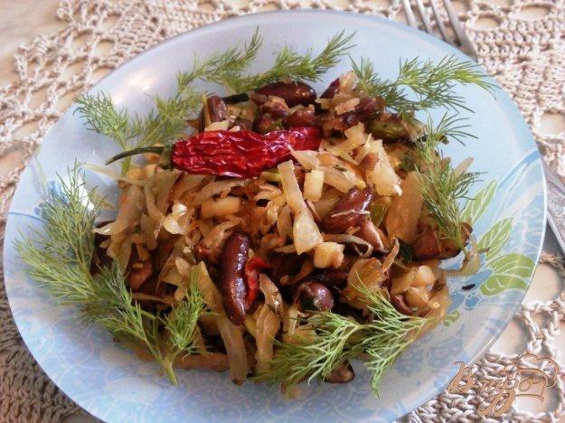 Рецепт Гарнир из квашенной капусты и фасоли