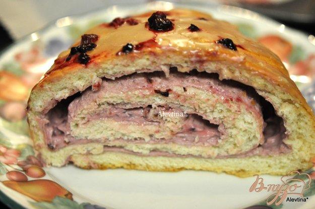 Рецепт Сладкий пирог с начинкой творожно-ягодной