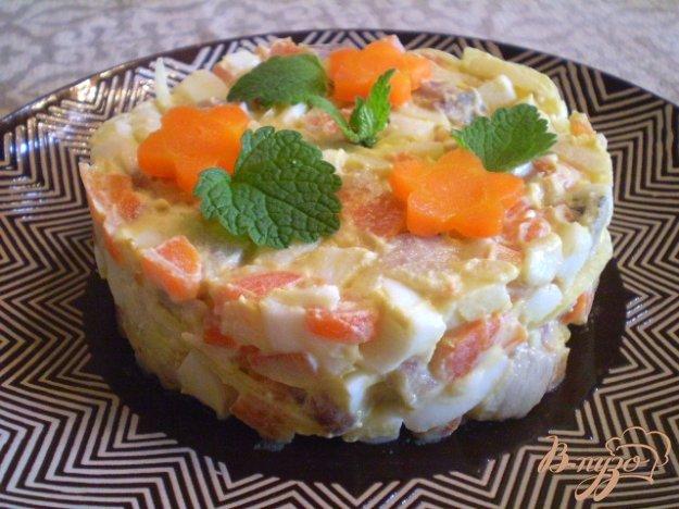 Рецепт Нежный селедочный салат