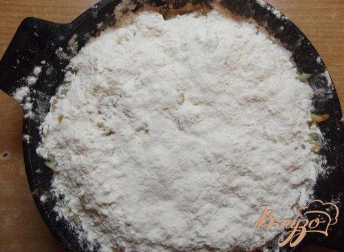 Насыпной пирог с тыквой и яблоками