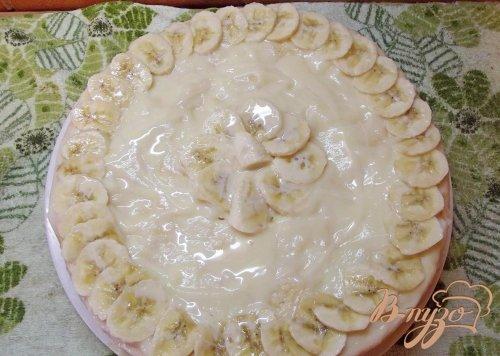 Торт с фруктами и заварным кремом