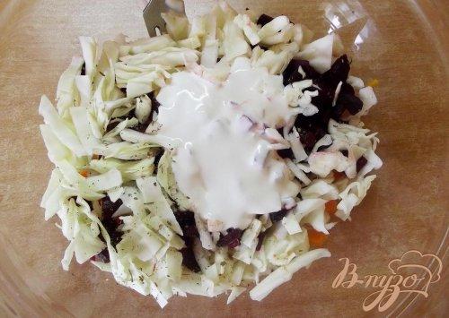Сытный овощной салат