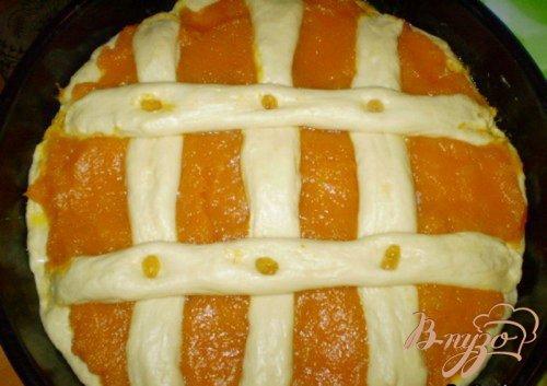 Пирог открытый с тыквой