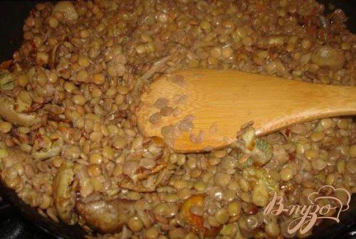 Чечевица с грибами