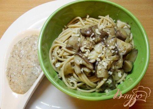 Спагетти с маслятами