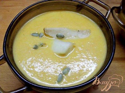 Крем-суп из тыквы с грушей