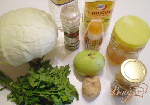 Салат из капусты и имбиря
