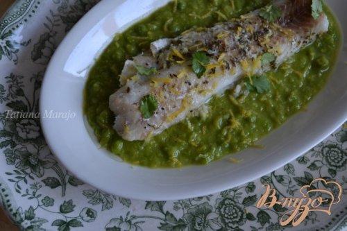 Скумбрия на пару с овощным соусом