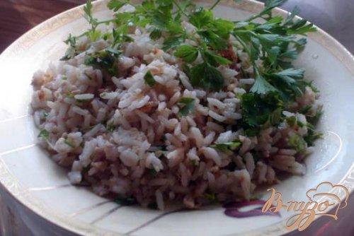 Бухарский рис с зеленью и говядиной