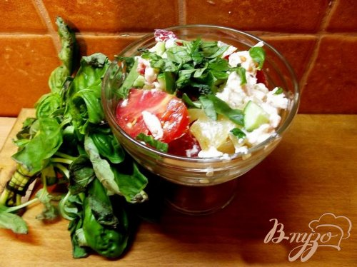 Салат с печеным перцем