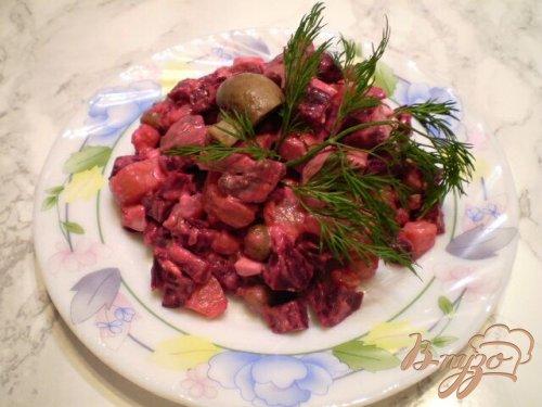 Овощной салат с шампиньонами