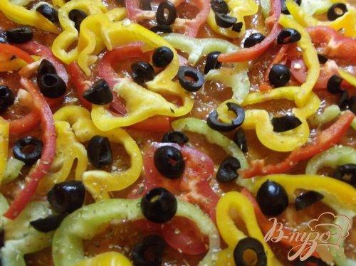 Овощная пицца с фетой