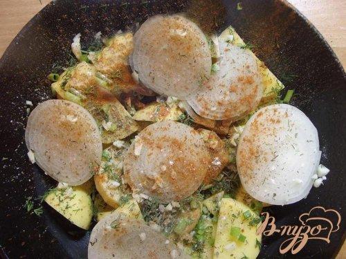Запеканка картофельная с яйцом