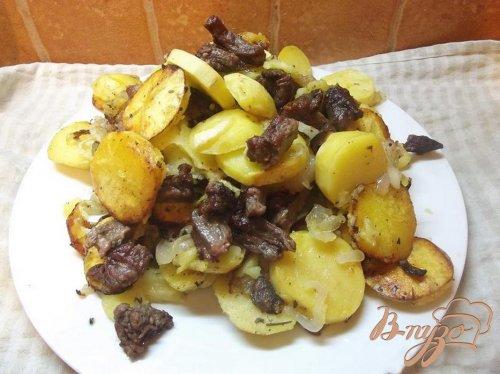 Праздничный картофель с мясом