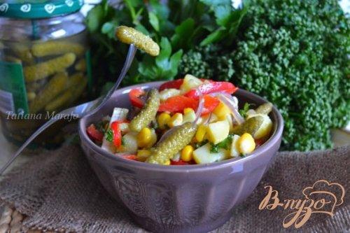 Картофельный салат с корнишонами