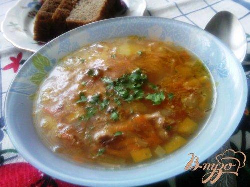 Суп с поджаренной лапшой